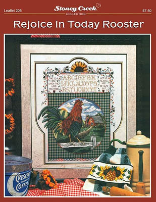 click here to view larger image of Rejoice in Today Rooster (chart)