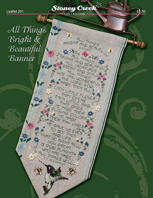 click here to view larger image of All Things Bright and Beautiful Banner (chart)