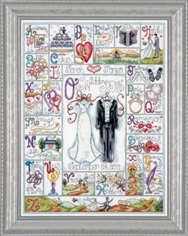 click here to view larger image of Wedding ABC (counted cross stitch kit)