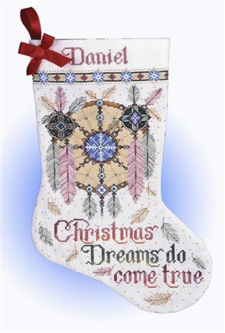 click here to view larger image of Christmas Dreams Stocking (counted cross stitch kit)