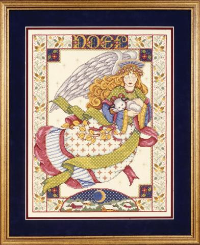 click here to view larger image of Angel With Lamb (counted cross stitch kit)