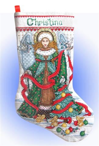 click here to view larger image of Christmas Angel Stocking (counted cross stitch kit)