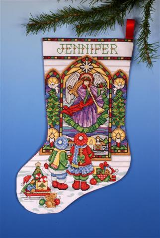click here to view larger image of Stained Glass Stocking (counted cross stitch kit)