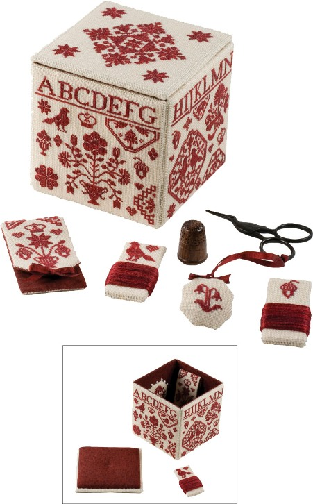 click here to view larger image of Quaker Needlework Box (chart)