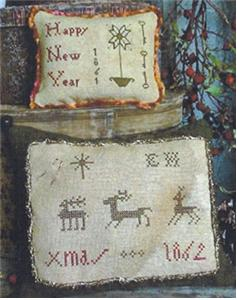 click here to view larger image of Elizabeth Hammond's Xmas Sampler Pilllow and Pinkeep (chart)