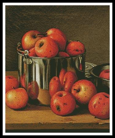click here to view larger image of Apples in a Tin  (chart)