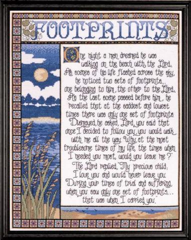 click here to view larger image of Footprints (counted cross stitch kit)