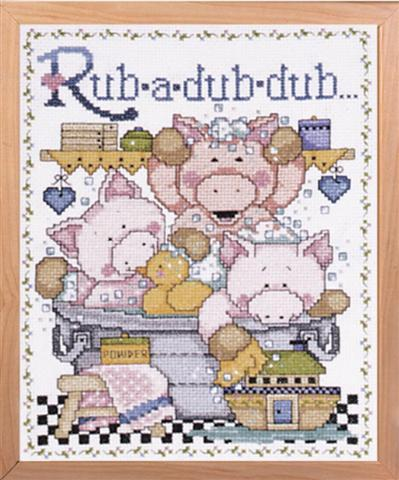 click here to view larger image of Rub A Dub (counted cross stitch kit)