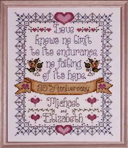 click here to view larger image of 25th Anniversary (counted cross stitch kit)