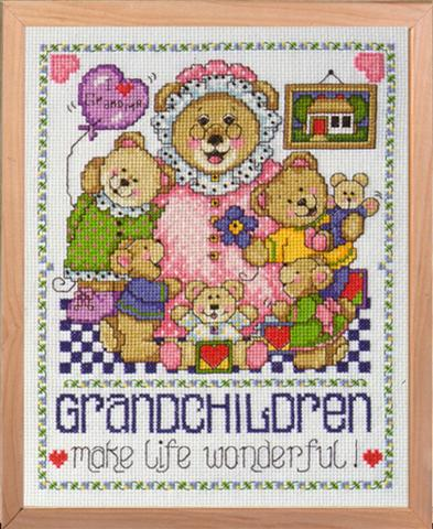 click here to view larger image of Grandchildren (counted cross stitch kit)