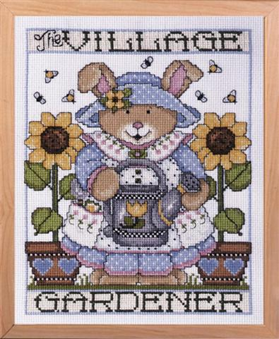 click here to view larger image of Gardener (counted cross stitch kit)