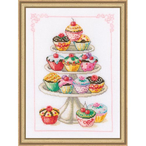 click here to view larger image of Cupcake Anyone? (counted cross stitch kit)