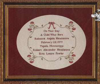 click here to view larger image of Angelas Sampler (chart)