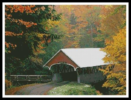 click here to view larger image of Autumn Covered Bridge (chart)
