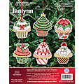 click here to view larger image of Christmas Cupcake Ornaments (counted cross stitch kit)