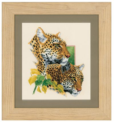 click here to view larger image of Cheetah Pair (counted cross stitch kit)