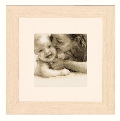 click here to view larger image of Mother and Baby (counted cross stitch kit)