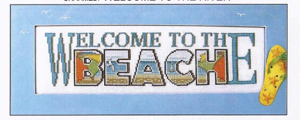 click here to view larger image of Charmed Welcome To The Beach (chart with charms/buttons)