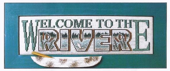 click here to view larger image of Charmed Welcome To The River (chart with charms/buttons)