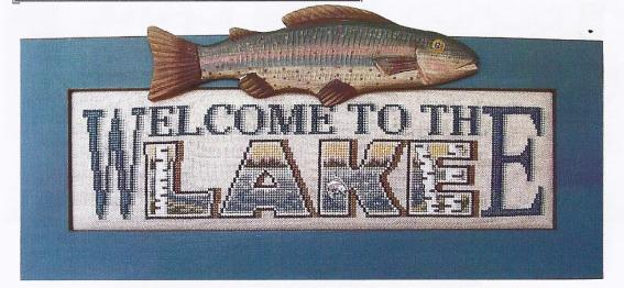 click here to view larger image of Charmed Welcome To The Lake (chart with charms/buttons)
