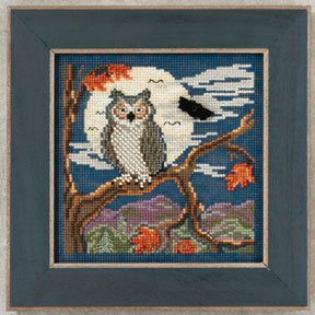 click here to view larger image of Night Owl  (2012) (counted cross stitch kit)