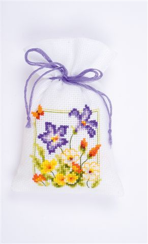 click here to view larger image of Spring Flower Sachet (counted cross stitch kit)