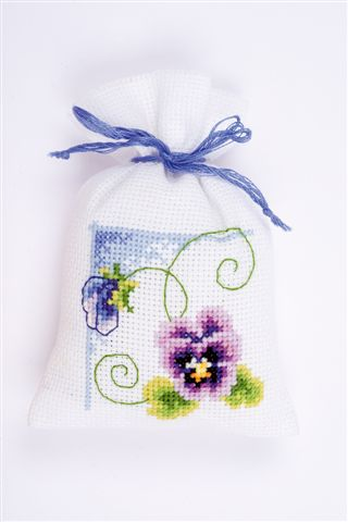 click here to view larger image of Viola Sachet (counted cross stitch kit)