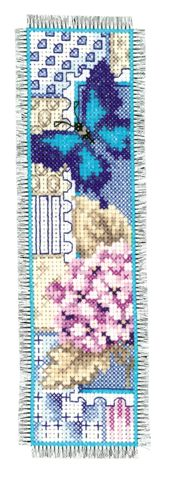 click here to view larger image of Butterfly Bookmark (counted cross stitch kit)