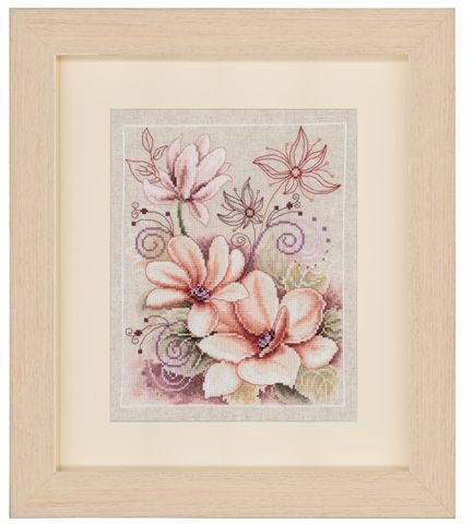 click here to view larger image of Floral - 2 (counted cross stitch kit)