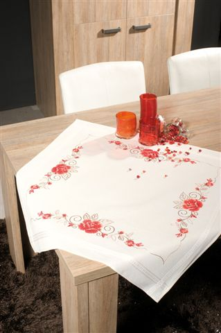 click here to view larger image of Rose Tablecloth (printed linen)