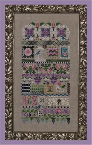 click here to view larger image of Motif Mystique (embellishments included) (chart with charms/buttons)