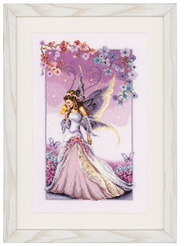 click here to view larger image of Purple Fairy (counted cross stitch kit)