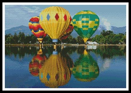 click here to view larger image of Hot Air Balloons Reflection (chart)