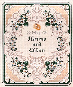click here to view larger image of Sampler - Wedding (chart)