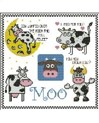 click here to view larger image of Cows Mini Moo Collection (chart)