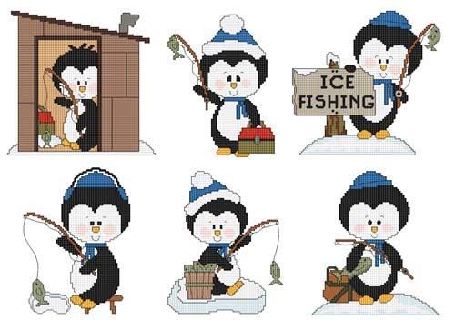 click here to view larger image of Ice Fishing Penguins (chart)