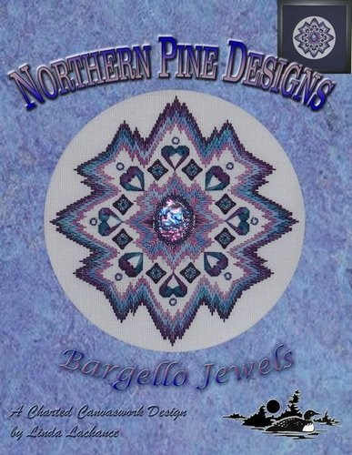 click here to view larger image of Bargello Jewels (counted canvas chart)
