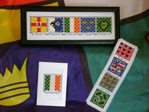 click here to view larger image of Irish Provincial Quilt Blocks (Claddagh Cross Stitch) (chart)