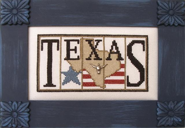 click here to view larger image of Flag State - Texas (chart with charms/buttons)