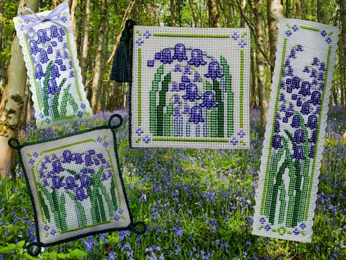 click here to view larger image of Bluebells Collection (counted cross stitch kit)