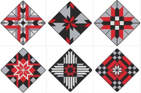 click here to view larger image of On Point Quilt Blocks (chart)