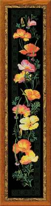click here to view larger image of California Poppy (counted cross stitch kit)