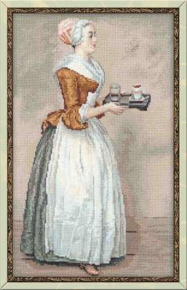 click here to view larger image of Chocolate after JE Liotards Painting (counted cross stitch kit)