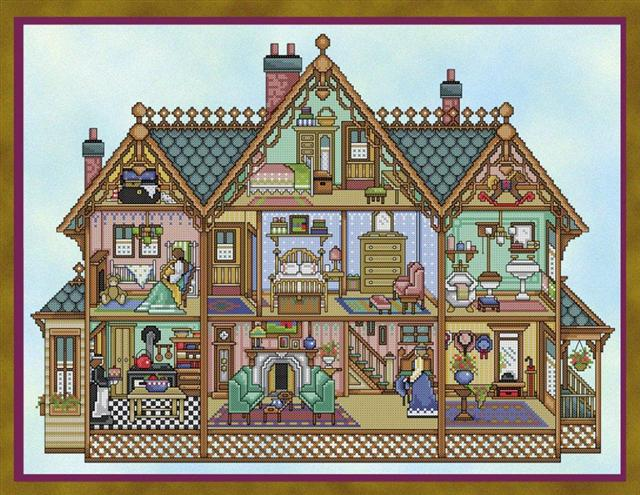 click here to view larger image of Victorian Dollhouse (chart)