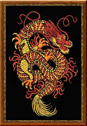 click here to view larger image of Dragon (counted cross stitch kit)