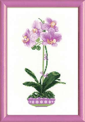 click here to view larger image of Lilac Orchid (counted cross stitch kit)