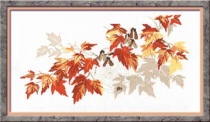 click here to view larger image of Breath of Autumn (counted cross stitch kit)
