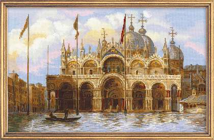 click here to view larger image of Venice St Marks Square (counted cross stitch kit)