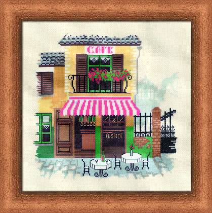 click here to view larger image of Bistro (counted cross stitch kit)