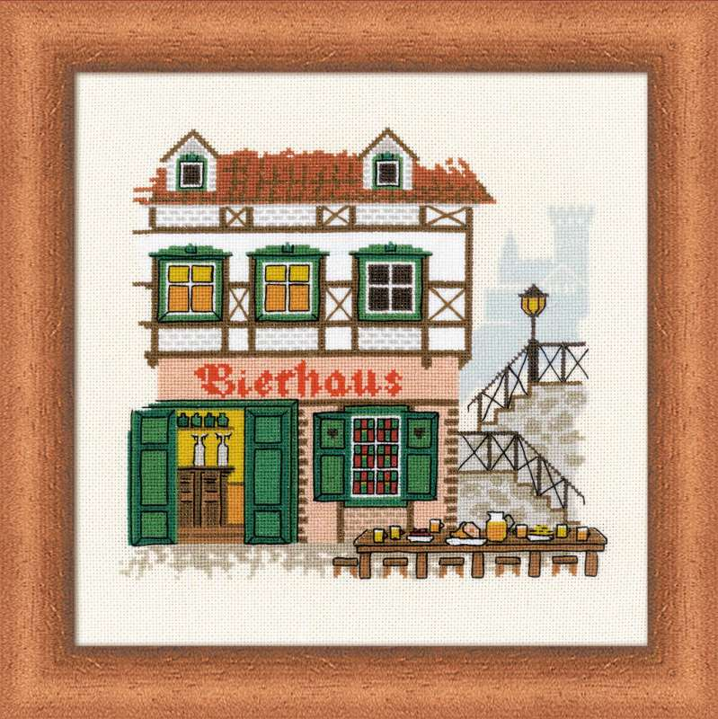 click here to view larger image of Bierhaus (counted cross stitch kit)